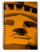 Statue Of Liberty In Orange Spiral Notebook