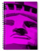 Statue Of Liberty In Purple Spiral Notebook