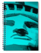 Statue Of Liberty In Turquois Spiral Notebook