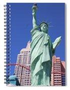 Statue Of Liberty Replica In Las Vegas Spiral Notebook