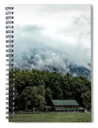 Steaming White Mountains Spiral Notebook