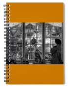 Steampunk Dreams In Black And White Spiral Notebook