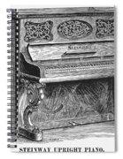 Steinway Piano, 1878 Spiral Notebook