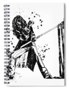 Steven Tyler Microphone Aerosmith Black And White Watercolor 01 Spiral Notebook