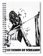 Steven Tyler Microphone Aerosmith Black And White Watercolor 04 Spiral Notebook