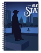 Stevie Ray Vaughan Memorial Statue  Spiral Notebook