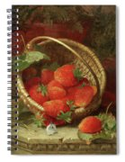 Still Life Of Strawberries With A Cabbage White Butterfly Spiral Notebook