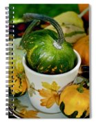 Still Live With Autumn Coffee Cup And Gourds Spiral Notebook