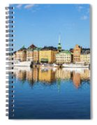 Stockholm Old City Fantastic Golden Hour Sunrise Reflection In The Baltic Sea Spiral Notebook