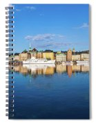 Stockholm Old City Sunrise Reflection In The Baltic Sea Spiral Notebook