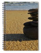 Stone Balance On The Beach Spiral Notebook