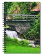 Stone Bridge And Waterfall Landscape Spiral Notebook