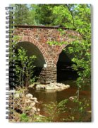 Stone Bridge At The Eastern Entrance Of The Manassas Battlefield  Spiral Notebook