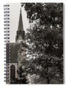 Stone Chapel - Black And White Spiral Notebook