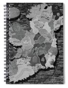 Stone Map Of Ireland Bw Spiral Notebook