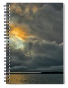 Storm Approaches At Sunset Spiral Notebook