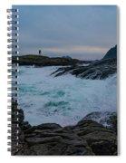 Storm At The Norwegian Coastline Spiral Notebook