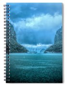 Storm Clouds Invade Ha Long Bay Blue Rain  Spiral Notebook