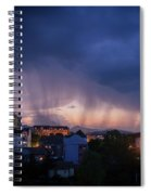 Stormy Weather Over The Small Town Spiral Notebook