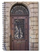Strasbourg Door 11 Spiral Notebook