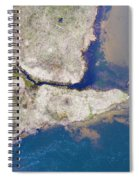 Stream Along Manistee River Aerial Spiral Notebook