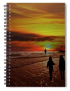 Strolling The Beach At Olon Spiral Notebook