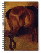 Study For Bay Horse Seen From Behind Spiral Notebook