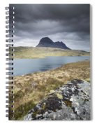 Suilven On A Stormy Day Spiral Notebook