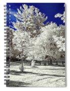 Summer Park In Infrared Spiral Notebook