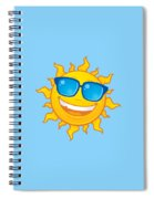Summer Sun Wearing Sunglasses Spiral Notebook