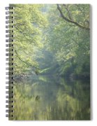 Summer Time River And Trees Spiral Notebook