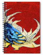 Sun And Moon On Red 2 Spiral Notebook