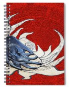 Sun And Moon On Red Spiral Notebook