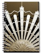 Sunburst Art Deco Sepia Spiral Notebook