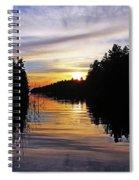 Sundown On The River Spiral Notebook