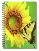 Sunflower And Swallowtail Spiral Notebook
