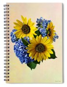 Sunflowers And Hydrangeas Spiral Notebook