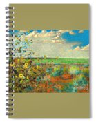 Sunflowers On The Edge Spiral Notebook