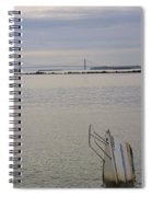 Sunken Sailboat In The Bay Spiral Notebook