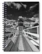 Sunny Skies At Marshall Point In Black And White Spiral Notebook