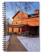 Sunny Winter Day At Bonneyville Mill Spiral Notebook