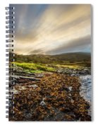 Sunrays At Dawn Along The Coast Spiral Notebook