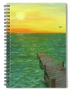 Sunrise At The Dock Spiral Notebook