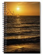 Sunrise Birds Nc Spiral Notebook