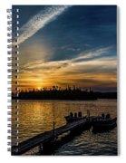 Sunrise Dog Lake Spiral Notebook