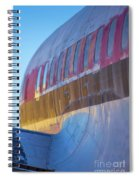 Sunrise On An Old Airplane Spiral Notebook