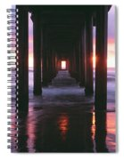 Sunrise Over The Pacific Ocean Seen Spiral Notebook