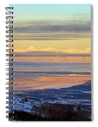 Sunrise View Across Cook Inlet From Above Anchorage Alaska Spiral Notebook