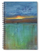 Sunset - Abstract Landscape Painting Spiral Notebook