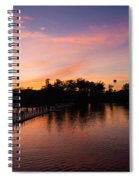 Sunset At Angkor Wat Spiral Notebook